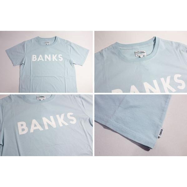BANKS,バンクス/18SU/ S/S Tシャツ・半袖Tシャツ/CLASSIC TEE-SHIRT・ATS0261/CLOUD BLUE・ライトブルー/S・Mサイズ/メンズ/オーガニックコットン/ロゴTEE|selfishsurf|02