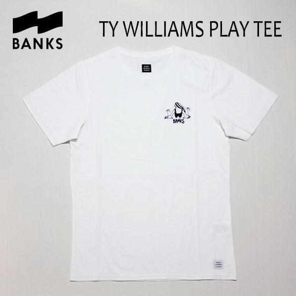 BANKS,バンクス/18SU/ S/S Tシャツ・半袖Tシャツ/TY WILLIAMS PLAY TEE-SHIRT・ATS0264/OFF WHITE・オフホワイト/S・M・Lサイズ/メンズ|selfishsurf
