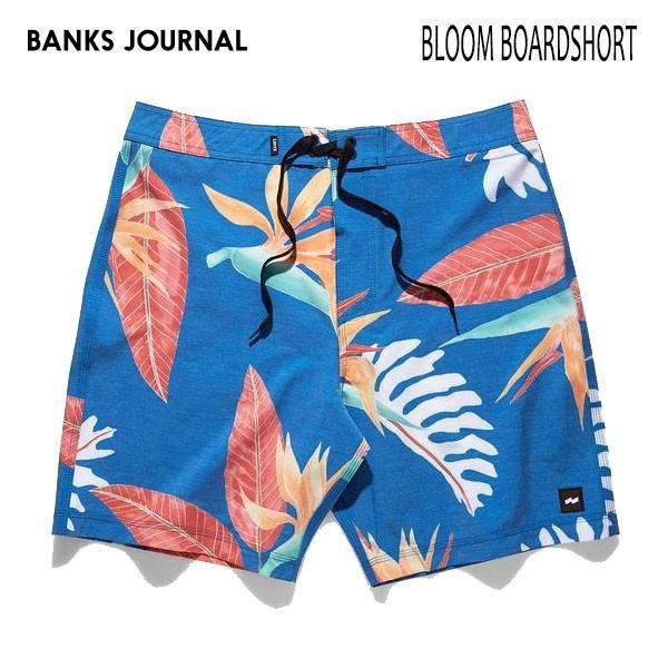 BANKS,バンクス/19SP/ボードショーツ・サーフトランクス/BLOOM BOARDSHORT・BS0166/COBALT・ブルー/28・30・32インチ/メンズ/総柄/4wayストレッチ selfishsurf