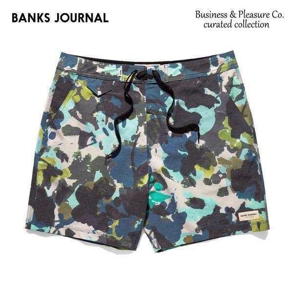 BANKS,バンクス/19SP/ボードショーツ・サーフトランクス/Business & Pleasure Co Boardshort・BS0169/COMBAT・グリーン/2wayストレッチ/メンズ selfishsurf