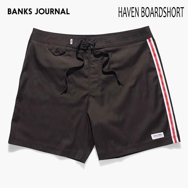 BANKS,バンクス/19SP/水陸両用・ボードショーツ・サーフトランクス/HAVEN BOARDSHORT・BS0172/DIRTY BLACK・ブラック/無地/シンプル/2wayストレッチ/メンズ selfishsurf