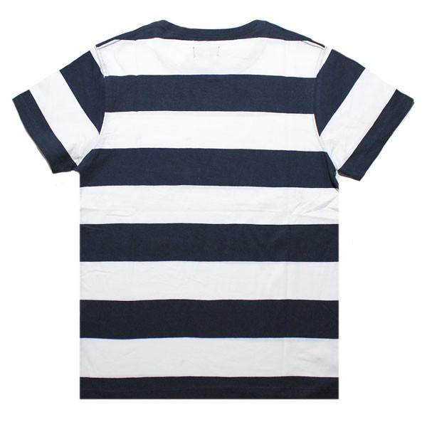 BANKS,バンクス/19SU/ S/S Tシャツ・半袖ポケットTシャツ/VIBES TEE SHIRT・ATS0364/DIRTY DENIM・ネイビー/メンズ/オーガニックコットン/ボーダー/マリン|selfishsurf|02