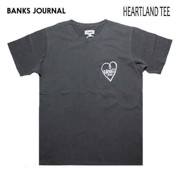 BANKS,バンクス/19SU/ S/S Tシャツ・半袖ポケットTシャツ/HEARTLAND TEE-SHIRT・ATS0381/DIRTY BLACK・ブラック/メンズ/オーガニックコットン/ハートロゴ|selfishsurf