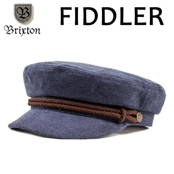 BRIXTON,ブリクストン/フィッシャーマンキャップ・マリンキャップ/定番モデル・FIDDLER SNAP CAP・フィドラー/NAVY/BROWN・ネイビー×ブラウン/S・M・Lサイズ selfishsurf
