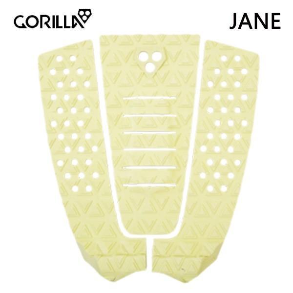 GORILLA GRIP,ゴリラグリップ/デッキパット,デッキパッチ/THE JANE/DRY LIME・イエロー/3ピースパッド/サーフィン/サーフボード/日本正規代理店品 selfishsurf