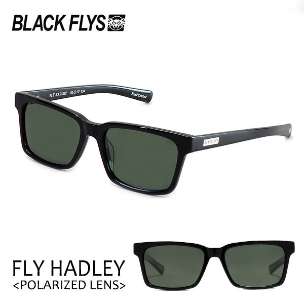 BLACKFLYS,ブラックフライ/18/FLY HADLEY Polarizedレンズ,フライヘドリー 偏光レンズ/BF-1194-03/BLACK/GREEN POL/サングラス selfishsurf