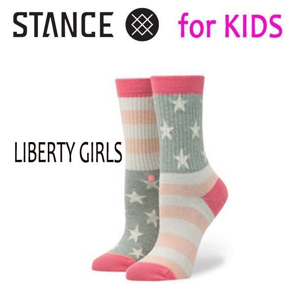 STANCE・スタンス/子供用靴下・キッズソックス/17FA/THE CLASSIC LIGHT・LIBERTY GIRLS/MUL・マルチカラー/19.5-23cm/COMBED COTTON selfishsurf