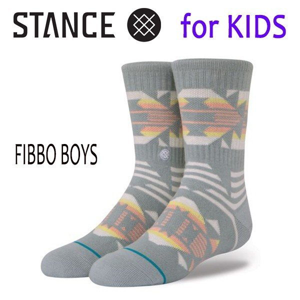 STANCE・スタンス/子供用靴下・キッズソックス/18SU/THE CLASSIC LIGHT・FIBBO BOYS/MUL・グレー/Y-M(16.5-19.5cm)・Y-L(19.5-23cm)/オルテガ|selfishsurf