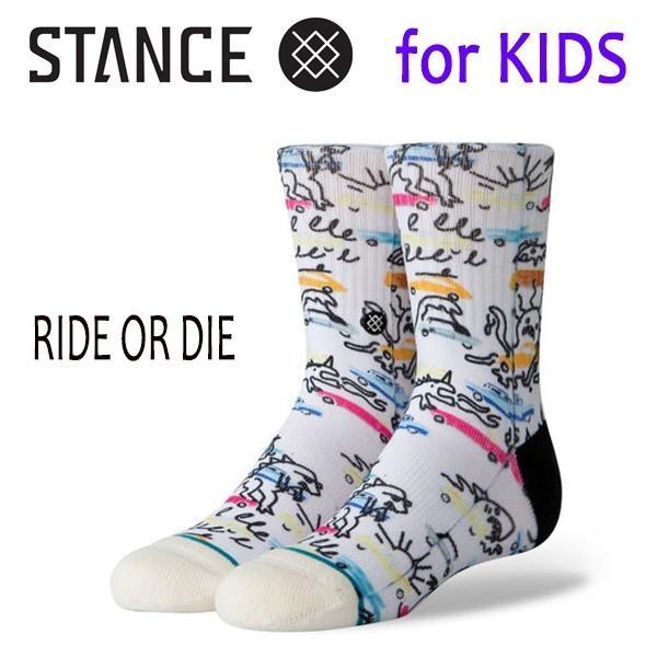 STANCE・スタンス/子供用靴下・キッズソックス/19SP/THE CLASSIC LIGHT・RIDE OR DIE BOYS/OFW・オフホワイト/アート selfishsurf