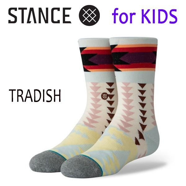 STANCE・スタンス/子供用靴下・キッズソックス/19SP/THE CLASSIC LIGHT・TRADISH/BLU・ブルー/トライバル|selfishsurf