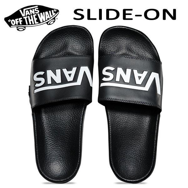 Vans バンズ/ビーチサンダル/18SU/SURF COLLECTION/SLIDE-ON Sandal/(VANS)BLACK・ブラック/25・26・27・28cm/シャワーサンダル/ロゴ|selfishsurf