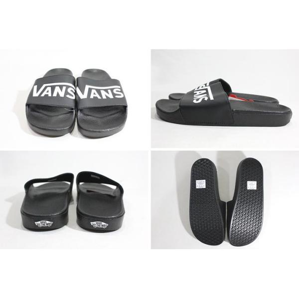 Vans バンズ/ビーチサンダル/18SU/SURF COLLECTION/SLIDE-ON Sandal/(VANS)BLACK・ブラック/25・26・27・28cm/シャワーサンダル/ロゴ|selfishsurf|03