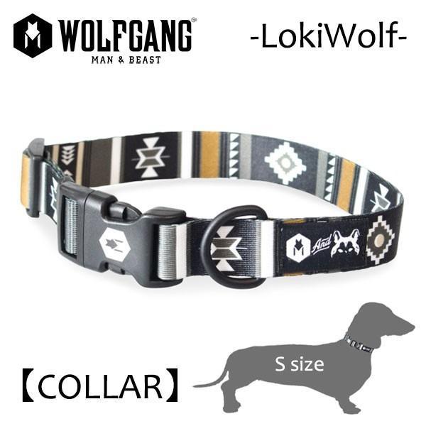 WOLFGANG MAN&BEAST・ウルフギャング/犬用/首輪/LokiWolf COLLAR/Sサイズ/小型犬/ネイティブ柄/AMERICAN MADE selfishsurf