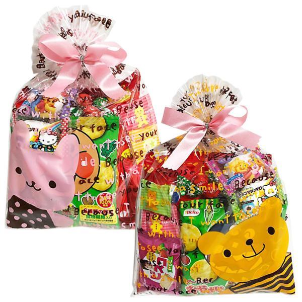 お菓子詰め合わせ 子供会 子供 駄菓子 問屋 お祝い 春のお菓子詰め合わせ「うさことくまの巾着(L)2柄アソート」