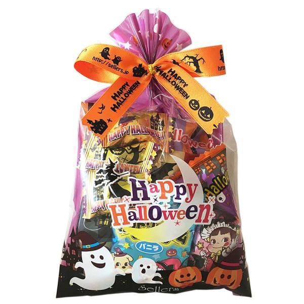 ハロウィン お菓子 詰め合わせ 人気ナンバーワン ハロウィン巾着M 他店では手に入らない巾着袋に色々お菓子を詰め合わせ。販促に嬉しい198円|sellers