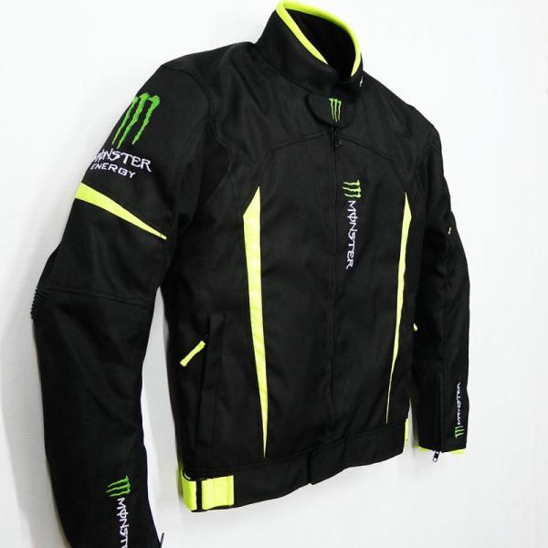 モンスター エナジー メンズ バイク ジャケット ライダースジャケット    春 秋 冬 3シーズン 防風 防寒 プロテクター装備 sellmax1 03