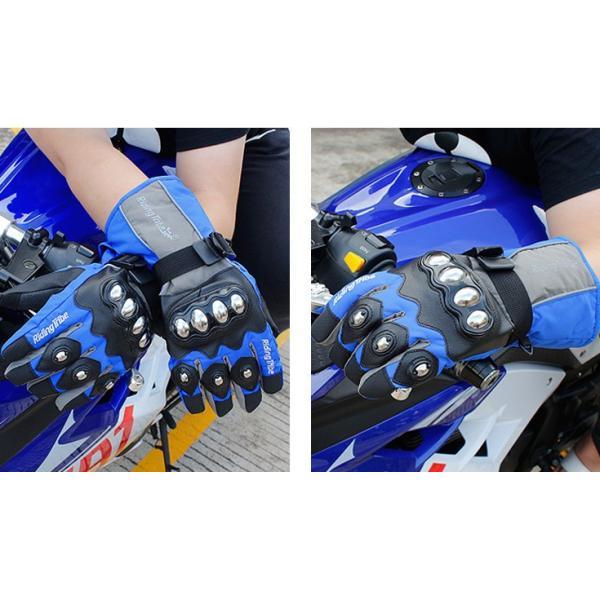 バイクグローブ 手袋 バイク用 自転車 春 夏 秋3シーズン グローブ メンズ 厚手 バイク ウェア|sellmax1|07