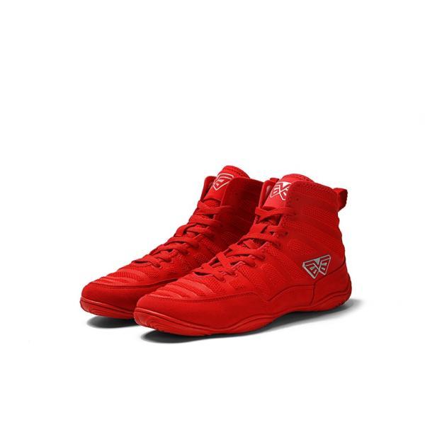 ボクシングシューズ リングシューズ ハイカット レスリングシューズ トレーニング 軽量 靴底が薄い 格闘技 スニーカー ジム