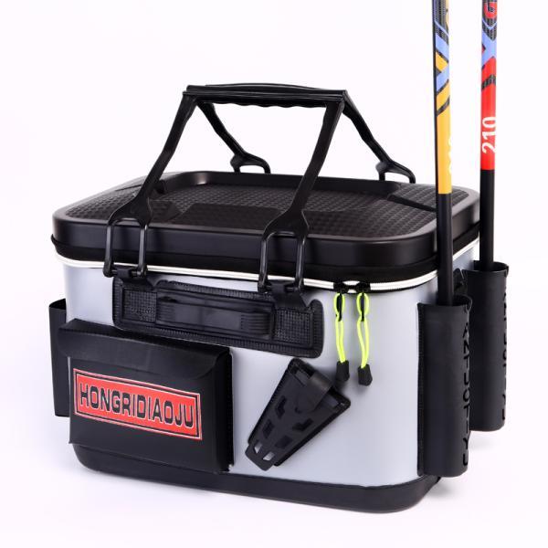 アウトドア バッカン タックルバッグ フィッシングバッグ EVA ロッドスタンド付 釣魚 釣り フィッシング 釣り具 エサ 餌 水汲み 多機能 バケツ 収納 防水 軽量