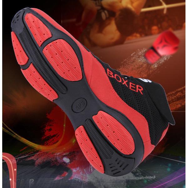 2021 ボクシングシューズ リングシューズ ハイカット レスリングシューズ トレーニング 軽量 靴底が薄い 格闘技 スニーカー ジム