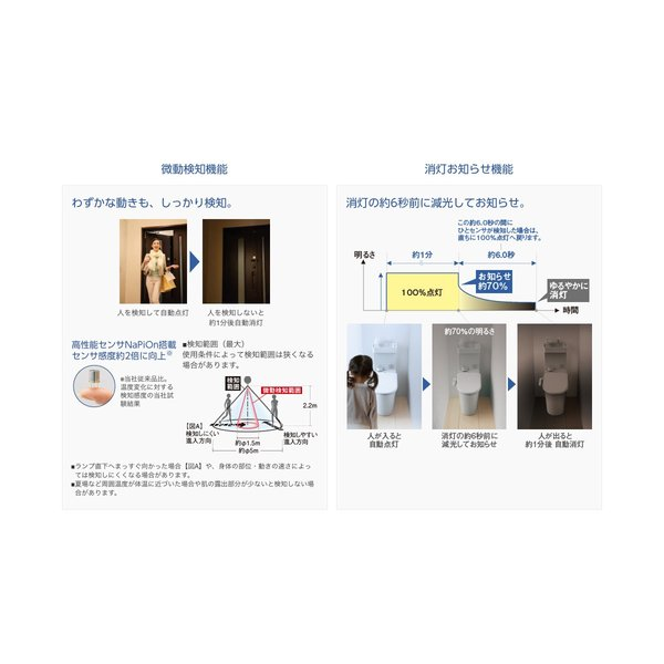 Panasonic LED電球 ひとセンサタイプ 内玄関向け 電球60W相当 E26口金 LDA10D-H/KU/GK|sellsta|03