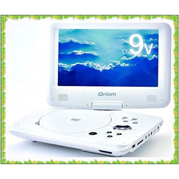 [山善] キュリオム ポータブルDVDプレーヤー CPRM対応 9インチ(16:9) DVD CPD-N92(W)|sena