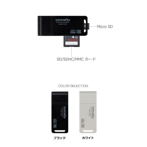SDカードリーダー USBカードリーダー SDメモリーカードリーダー MicroSD/SD/SDHC/TF y2|senastyle|03