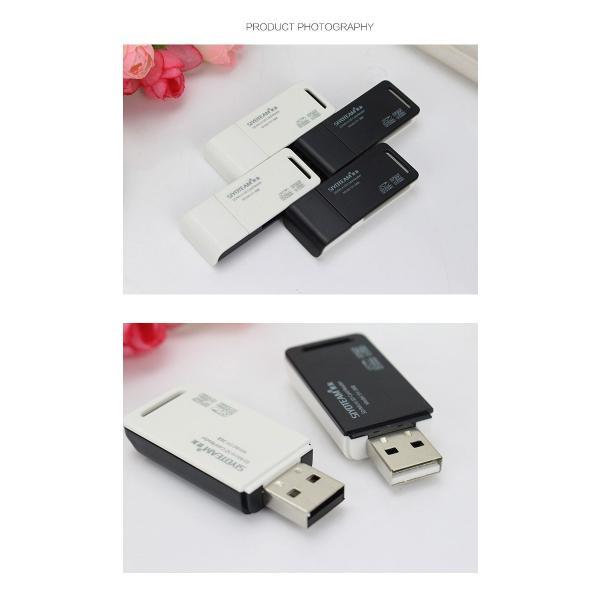 SDカードリーダー USBカードリーダー SDメモリーカードリーダー MicroSD/SD/SDHC/TF y2|senastyle|04
