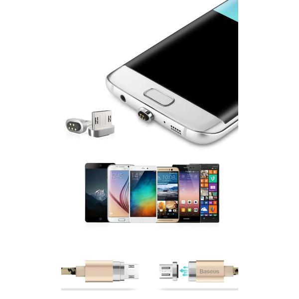 Android 用 micro USB ケーブル マグネット アンドロイド 断線しにくい アンドロイド 用 マイクロ USB 充電ケーブル 1m スマホケース y2|senastyle|03
