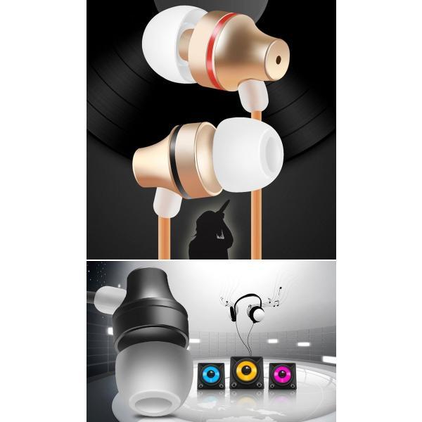イヤホン マイク スマホ iPhone Android パソコン カナル型 通話可 超小型リモコン 有線 全3色 軽量 イヤフォン シンプル|senastyle|02