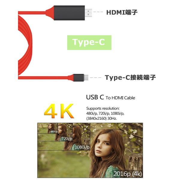 Type-C HDMI TV テレビ 接続 出力 ミラーリング 接続ケーブル GalaxyS8 S9 プロジェクター タブレット MHL スマートフォン 変換ケーブル y2 senastyle 02