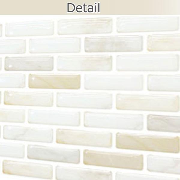 モザイクタイル シート キッチンシート シール (ホワイト) キッチン DIY カッティングシート 壁紙 リフォーム お得10枚セット|senastyle|04