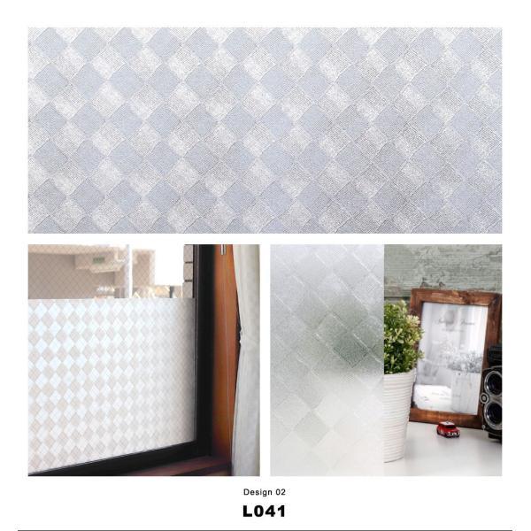 窓ガラス フィルム 目隠し シート はがせる (幅90cm デザイン柄) 全15種 装飾フィルム おしゃれ リフォーム 外から見えない プライバシー対策|senastyle|05
