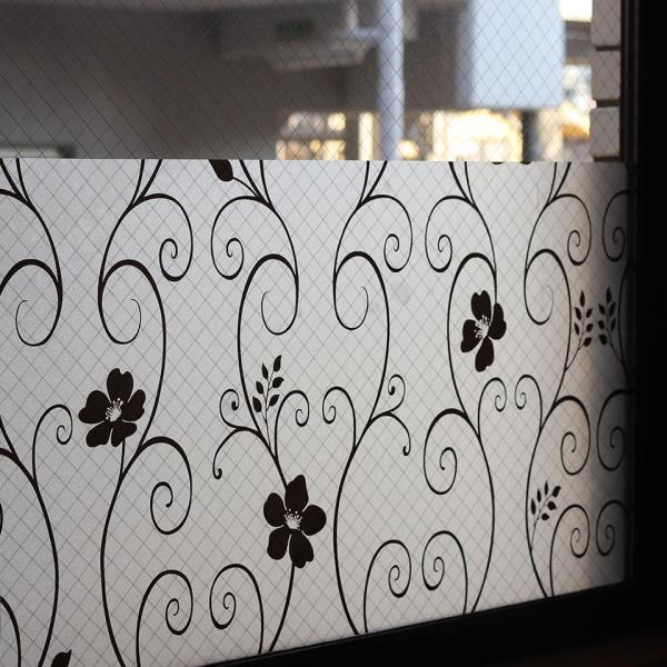 窓ガラス フィルム 外から見えない 窓 目隠しフィルム 幅120cm (mgch90-p014b-sam) はがせる おしゃれ 目隠しシート UVカット 飛散防止|senastyle|03