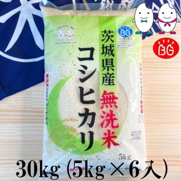 お米 BG無洗米 30kg(5kg×6) 茨城県産コシヒカリ 令和2年産
