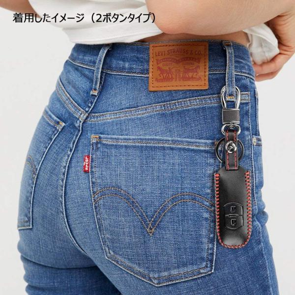 Mazda マツダ スマートキーケース キーホルダー キーカバー 本革製 ファッション 汚れ 滑り 傷防止 男女兼用 高品質 2ボタン.3ボタン選択可 赤い糸|sendaizuihouen-store|07