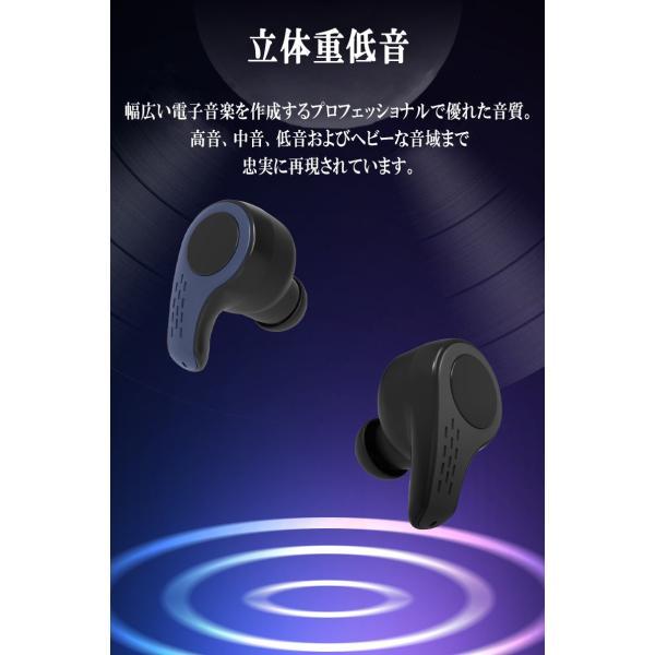 新作ブルートゥースイヤホン Bluetooth 5.0 ワイヤレスイヤホン  ヘッドセット 片耳 Hi-Fi高音質 マイク内蔵 充電ケース付属 最大連続再生時間20時間 左右耳兼用|sendaizuihouen-store|08