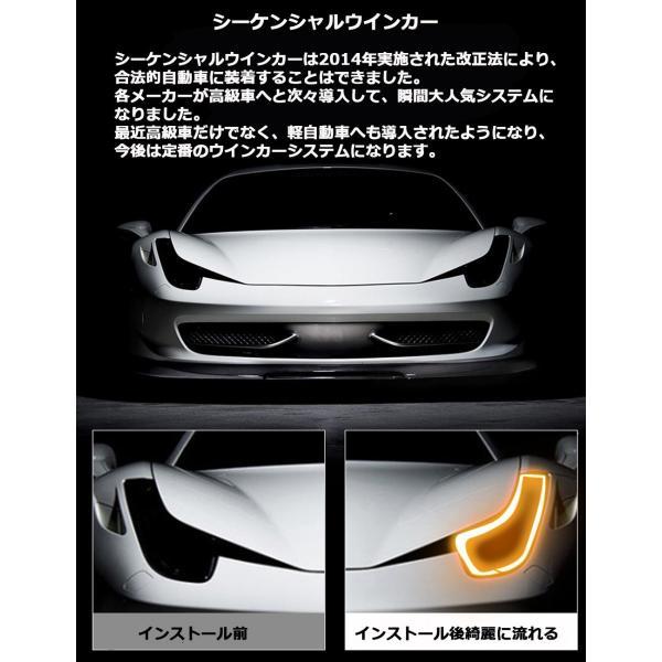 LED テープ流れるウインカー ホワイト/アンバー アイスブルー/アンバー レッド/アンバー シーケンシャル ウインカー機能付き カット可能60cm2本 sendaizuihouen-store 06