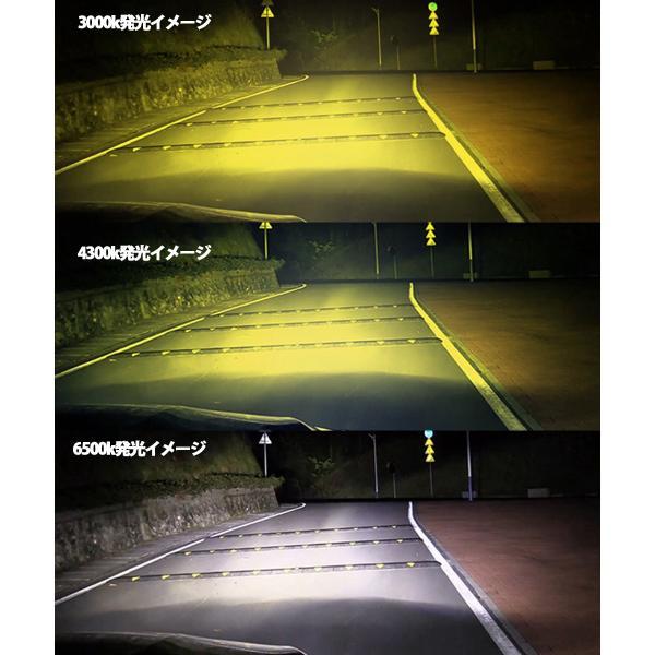 LEDフォグランプヘッドライト H3 H8/H11/H16 HB3 HB4 3色温度切替 記憶機能付きPhilips LUMLEDS社製チップ 66W 6600Lm 3000k/4300k/6500k 2本セットクリスマス|sendaizuihouen-store|07
