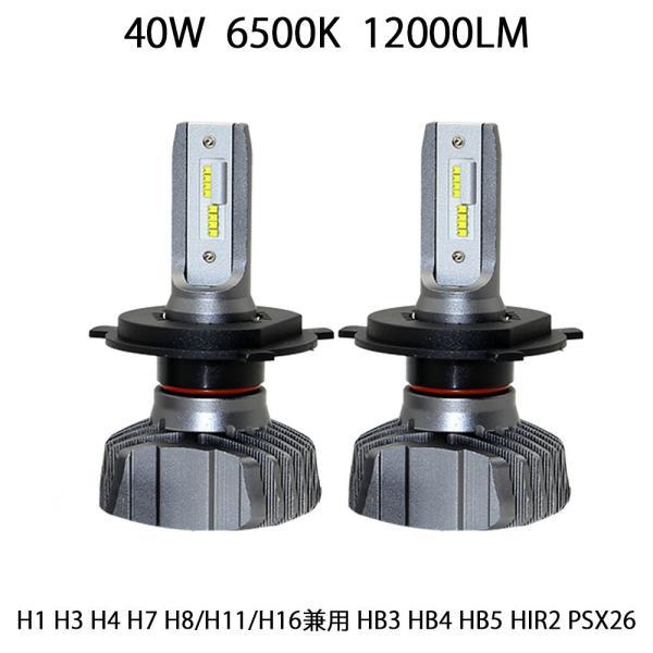 LEDヘッドライト T8Plus  H4 H1 H3 H7 H8 H11 H16 HB3 HB4 HB5 HIR2 PSX26W新車検対応LUMILEDS製ZESチップ(第2世代)40W 12000LM 6500K 2本set|sendaizuihouen-store