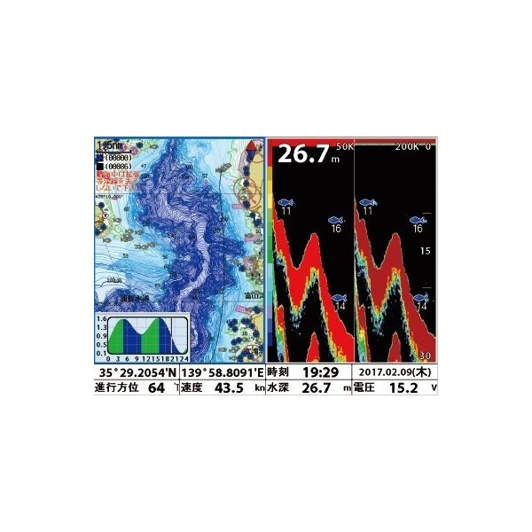 FUSOELE(フソー) FE-8F_HG 600W GPSプロッター魚探 newpec地図標準装備+船底塗料プラドールZ 青 4kg 魚群探知機