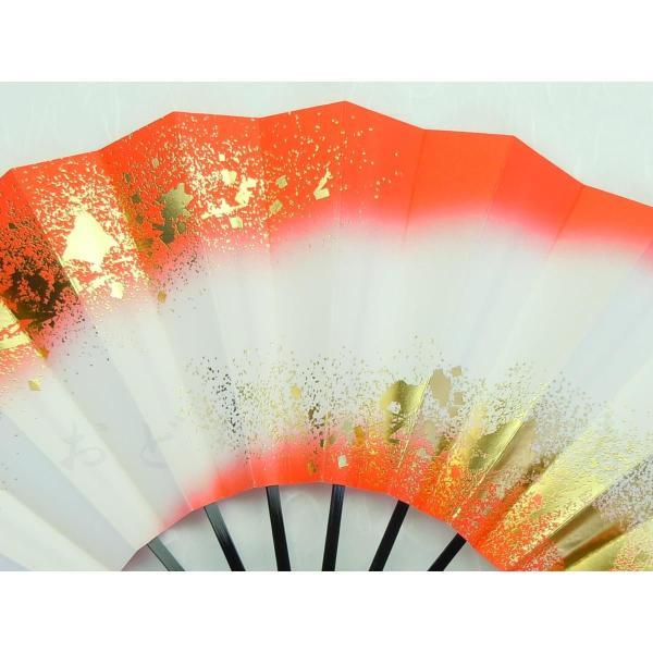 舞扇子 日本舞踊・踊り用 29cm 両つまちらし 朱 日本製(京都) 箱なし|senjyu|02