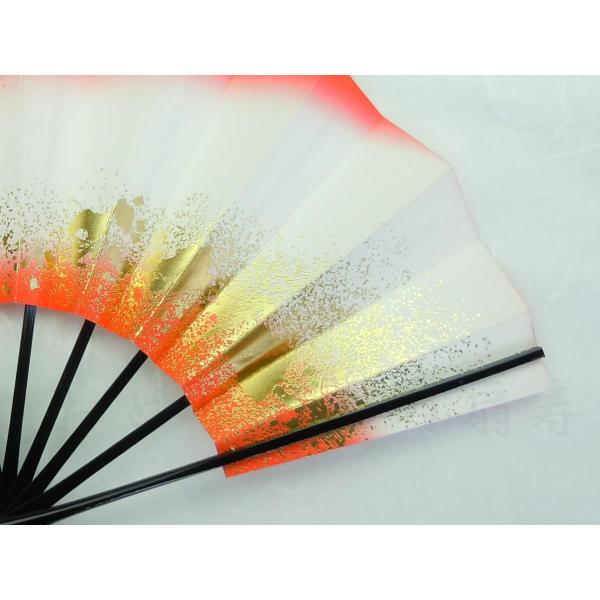 舞扇子 日本舞踊・踊り用 29cm 両つまちらし 朱 日本製(京都) 箱なし|senjyu|05