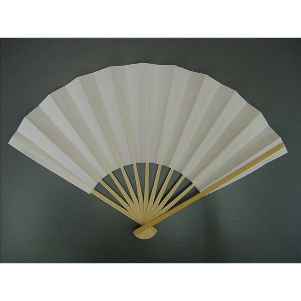 白扇子 イベント・祭り用舞扇子 27.5cm 9寸11間 白竹 並|senjyu