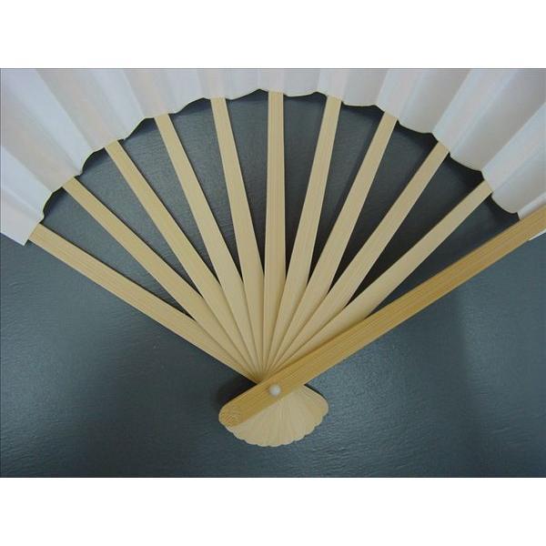 白扇子 イベント・祭り用舞扇子 27.5cm 9寸11間 白竹 並|senjyu|02