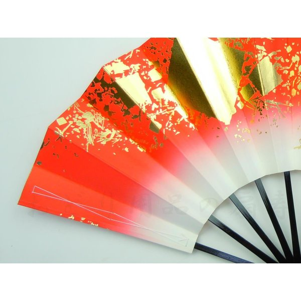 舞扇子 日本舞踊・踊り用 29cm 色紙ちらし 赤 日本製(京都) 箱なし senjyu 04