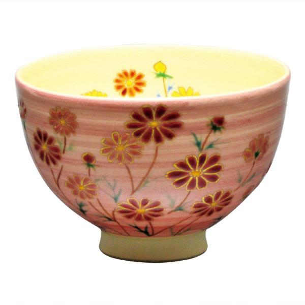 茶道具 抹茶茶碗(まっちゃちゃわん) 茶碗 桃釉 秋桜 見谷 福峰