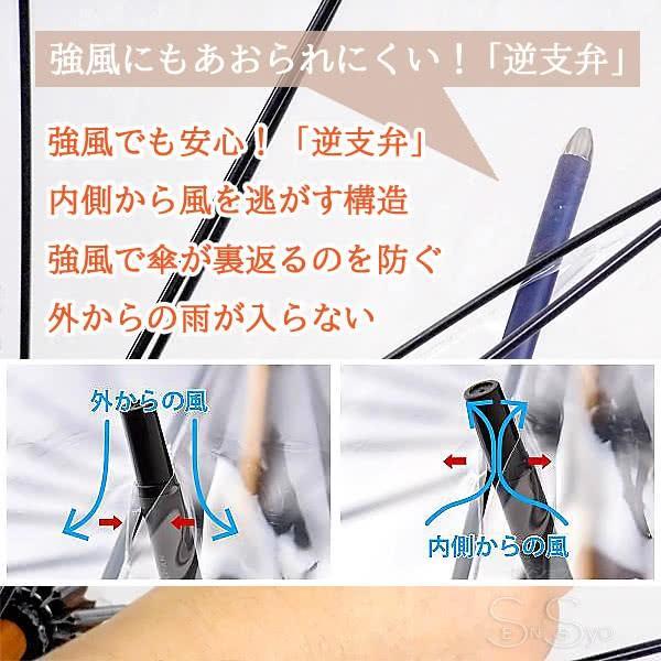 ホワイトローズ雨傘 アメマチ58NV 携帯 折りたたみビニール傘 透明ネイビー 木製手元 グラスファイバー8本骨傘 男女兼用 日本製 2WAY防水傘袋セット|senssyo|04