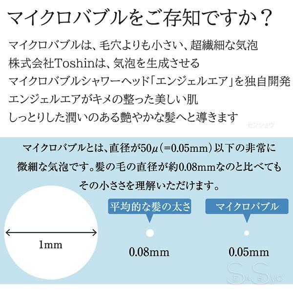 エンジェルエア プレミアム パールホワイト 節水 浴室用マイクロバブル シャワーヘッド AngelAir Premium Toshin 日本製 TH-007-WH|senssyo|04