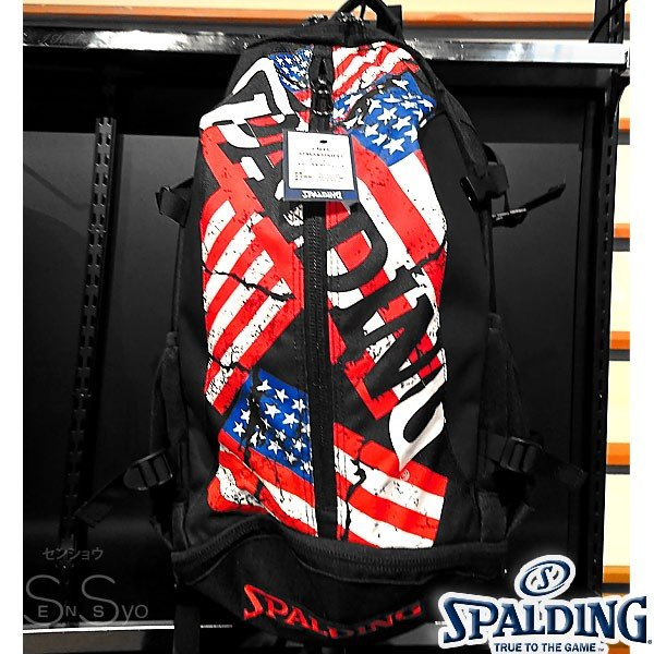SPALDING ケイジャー スターズ アンド ストライプス バスケットボール バッグ バックパック リュック スポルディング CAGER 40-007SS senssyo 05